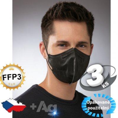 Pardam BreaSAFE PRO MASK FFP3 L černý 3 ks