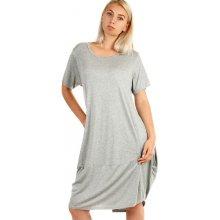 a4f23d3e27eb TopMode dámské plážové šaty i pro plnoštíhlé šedá