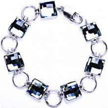 R 1305 náramek Čištín 282218972 stříbrný s krystalem Swarovski akvamarín