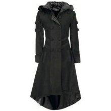 Gotický kabát dámský dlouhý Midnight