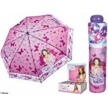 Dětský skládací deštník Violetta růžová