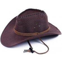 Fialový kovbojský dámský nebo pánský klobouk