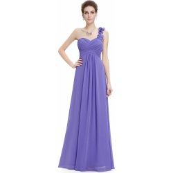 9efe3162a7f Ever Pretty plesové dlouhé šaty na jedno rameno fialová alternativy ...