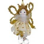 Wiky Dekorace vánoční - anděl zlatý se skleněnými nožkami