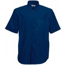 Pánská košile Oxford krátký rukáv Námořní modř Fruit of the Loom 65-112-0