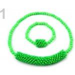 Stoklasa Dětská sada náhrdelník a náramek 1 zelená sv. neon