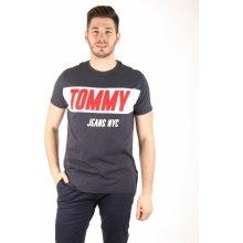 512930e086 Tommy Hilfiger pánské tmavě modré tričko Logo