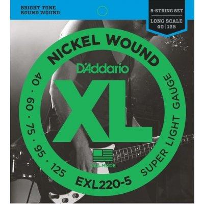 D'Addario EXL220-5 + prodloužená záruka 3 roky