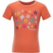 Alpine Pro dětské triko SILVA 4 ORANŽOVÉ