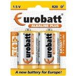 Baterie EUROBATT Plus D 2ks