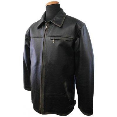 Brixton Jasper Rub Off pánská kožená bunda černá