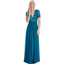 532e4c0eb567 Goddiva dlouhé plesové šaty Lauren modrozelená