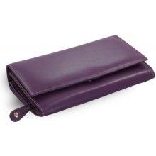 Arwel Dámská kožená psaníčková peněženka 511 2120 s klopnou fialová