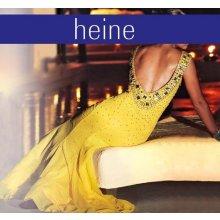 Heine Šaty korálkové večerní ve žluté barvě