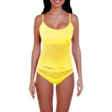 Naomi komplet košilka + tanga žlutá