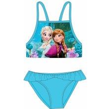 E plus M dívčí dvoudílné plavky Frozen tyrkysové