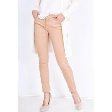 Basic Béžové kalhoty s vysokým pasem RD123 deee001040