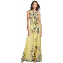 LM moda dlouhé letní šaty s květy antický styl 3956-2 žlutá c541cedc1a