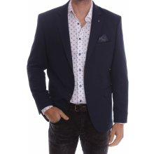 Pánske elastické športovo elegantné sako slim fit 3587 modrá