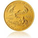 Eagle Česká mincovna Zlatá investiční 1 4 Oz mince 10 USD American stand 8,48 g