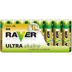 Baterie RAVER Ultra Alkaline AA 8ks