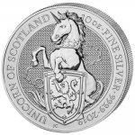 The Queen's Beasts Investiční stříbro stříbrná mince 10 Pounds The Unicorn 10 Oz 2019