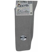 205c75b691c C K RIP pánské světle šedé ponožky s volným lemem - ČESKÁ VÝROBA - 100%  bavlna
