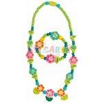WOODY Souprava náhrdelník a náramek Květiny s lístky