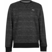 Lee Cooper Textured AOP Crew Sweater Mens Charcoal