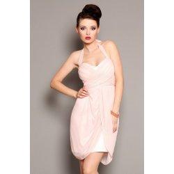 a786f4813e0 FIONELLA společenské a plesové šaty se zavazováním za krk středně dlouhé  růžová