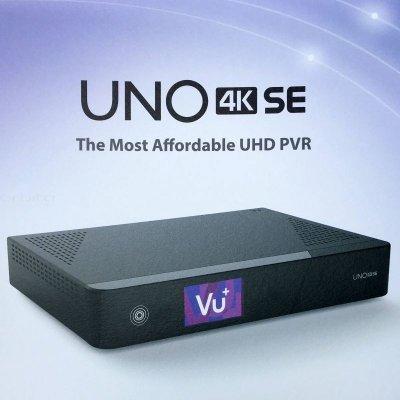 VU+ UNO 4K SE H.265 (1x MTSIF DUAL DVB-T2 tuner)