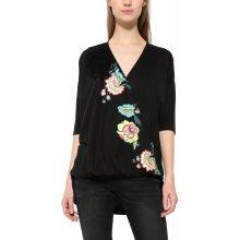Desigual černé tričko Alicia s barevným potiskem 808772e445