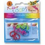 Přívěšky pro výrobu náramků z gumiček RUBBER LOOPS - LOVE 4ks