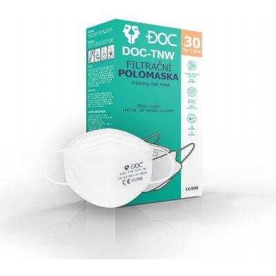 DOC DOC-TNW 3D Polomaska respirátor FFP3 NR 30 ks