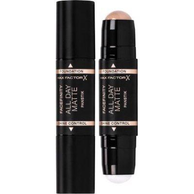 Max Factor Zmatňující báze a make-up v tyčince 2v1 Facefinity All Day Matte Panstick 40 Light Ivory 11 g