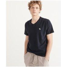 Pánské tričko Abercrombie&Fitch Icon V-Neck Tee tmavě modrá