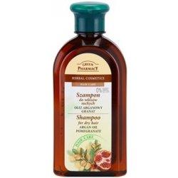 Green Pharmacy Hair Care Argan Oil & Pomegranate šampon pro suché vlasy (0% Parabens, Artificial Colouring, SLS, SLES) 350 ml