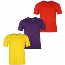 Donnay Three Pack V Neck T Shirt Mens