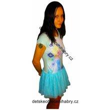 25e0bf382ac TV Mania Šaty FROZEN tylová sukně modré