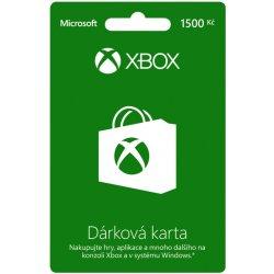 Microsoft Xbox Live předplacená karta 1500 CZK