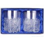 ONTE CRYSTAL Broušené skleničky na whisky Iris Balení Dárkové balení v saténu 2 ks 330ml