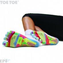 ToeToe REFLEXOLOGY komfortní prstové ponožky bílá