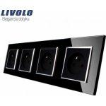 Livolo zásuvkový čtyř-panel CZ SR-SR-SR-SR-12