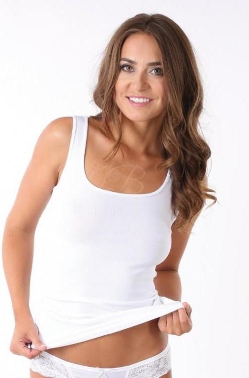 Evona Top 7005 luxusní košilka na širší ramínka bílá od 227 Kč - Heureka.cz c98cc2773f
