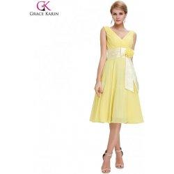 Grace Karin společenské šaty krátké CL6015-3 žlutá od 1 629 Kč ... 6db4ce75565