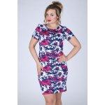 Dámské šaty s květinovým vzorem i pro plnoštíhlé malinová růžová b4584eae99