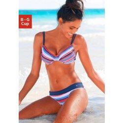 s.Oliver RED LABEL Beachwear Bikiny s kosticemi modrá-červená s proužky b6d7993b0e