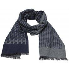 Lerros Elegantní pánská šála Hubert modrá 9e53999d80