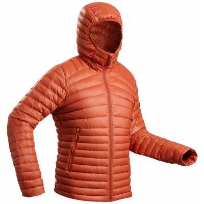 Forclaz pánská turistická péřová bunda Trek 100 oranžová