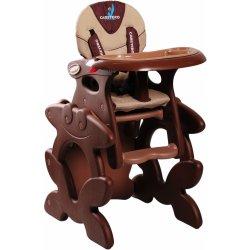 Caretero Primus jídelní židlička hnědá
